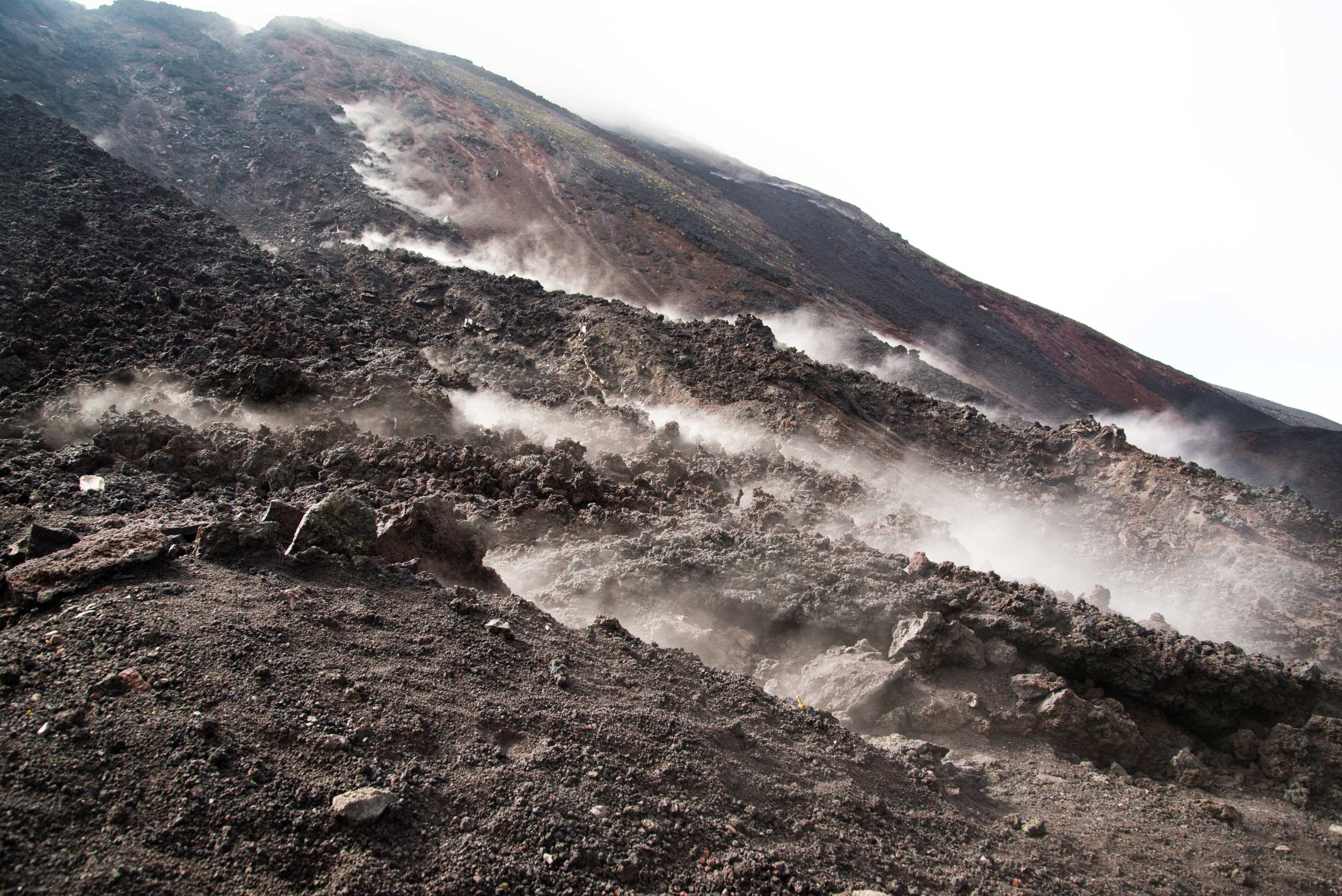 Smoking Pacaya volcano